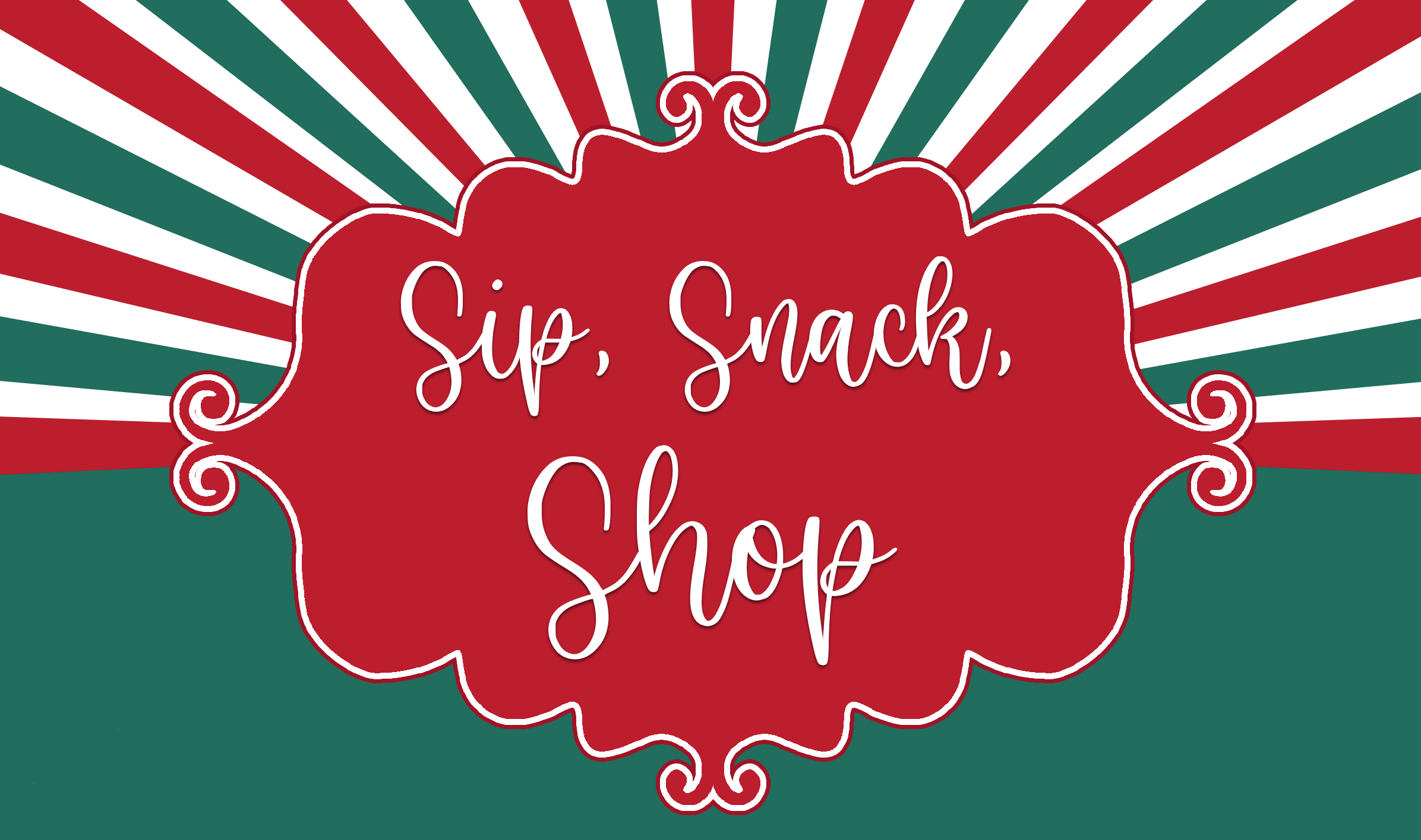 Sip, Snack, Shop Logo