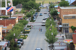 View of street in Downtown Roanoke